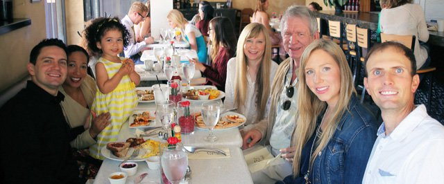 Chitwood Family at our 2016 Easter Brunch - Will, Chea, Zoey, Deb, Terry, Christina, and Tom