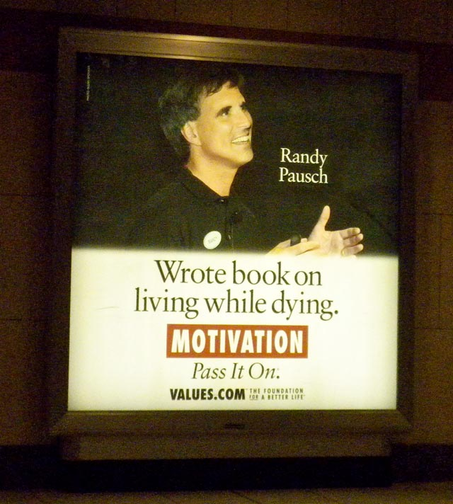 Randy Pausch on a values.com ad