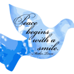 """Peace Begins with a Smile"" Word-Art Freebie"
