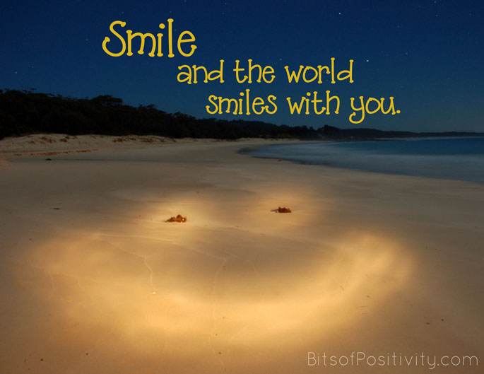 """Smile and the World Smiles with You"" Word-Art Freebie"