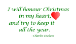 """I Will Honour Christmas"" Word-Art Freebie"