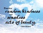 """""""Practice Random Kindness"""" Word-Art Freebie"""