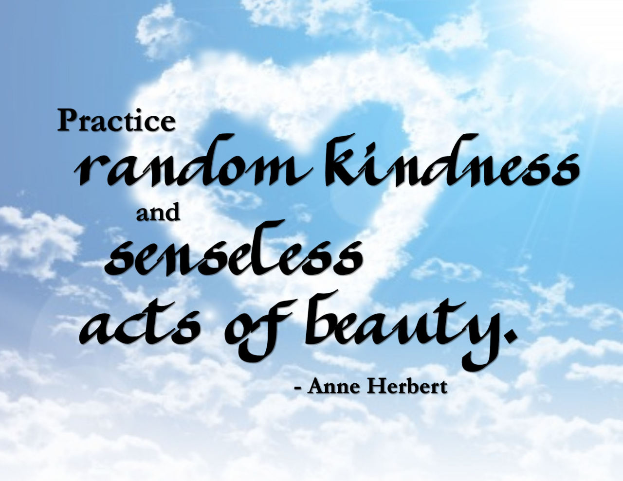 "Quote About Kindness Practice Random Kindness"" Wordart Freebie"
