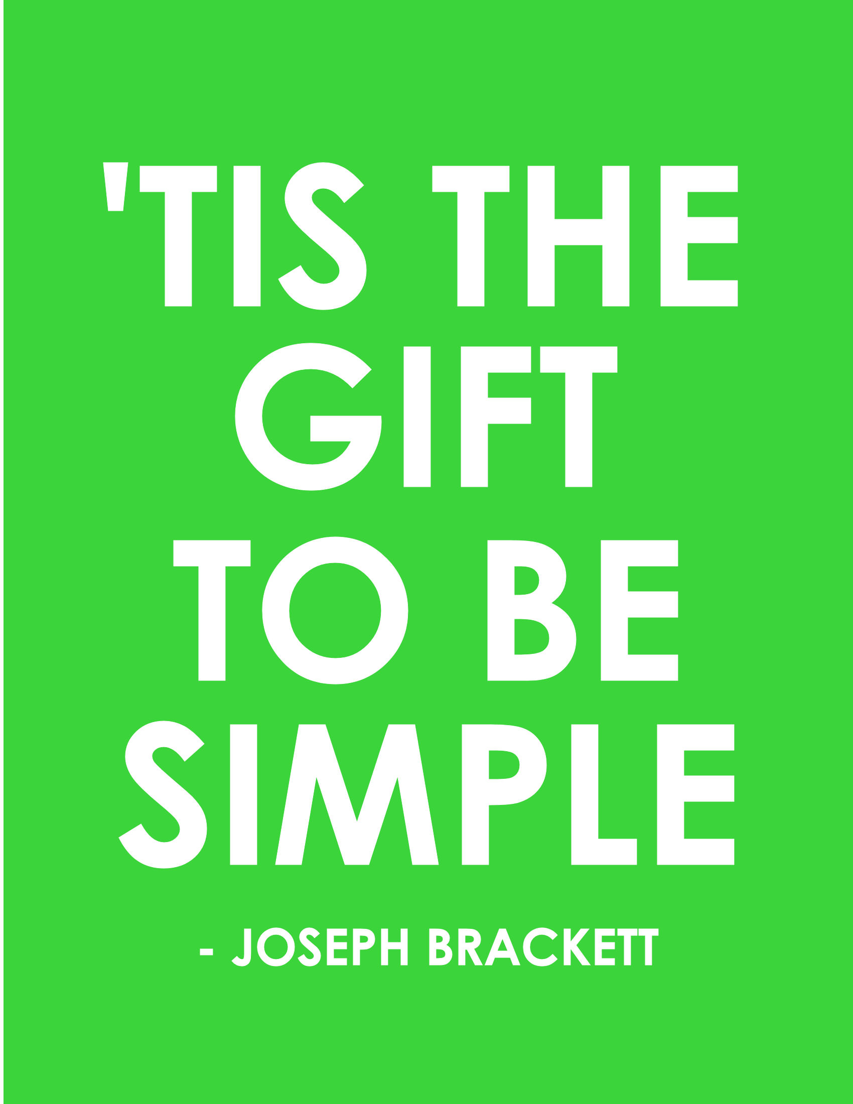 Tis the gift to be simple word art freebie to download word art click here negle Gallery