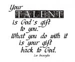 """Your Talent"" Word-Art Freebie"