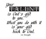 """Your Talent"" Word-Art Freebie"
