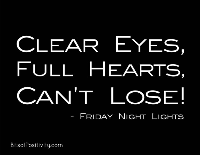 """Clear Eyes, Full Hearts, Can't Lose!"" Word Art Freebie"