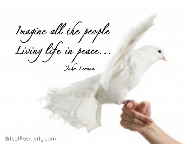 """""""Imagine All the People, Living Life in Peace"""" Word-Art Freebie"""
