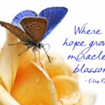 """Where Hope Grows, Miracles Blossom"" Word-Art Freebie"
