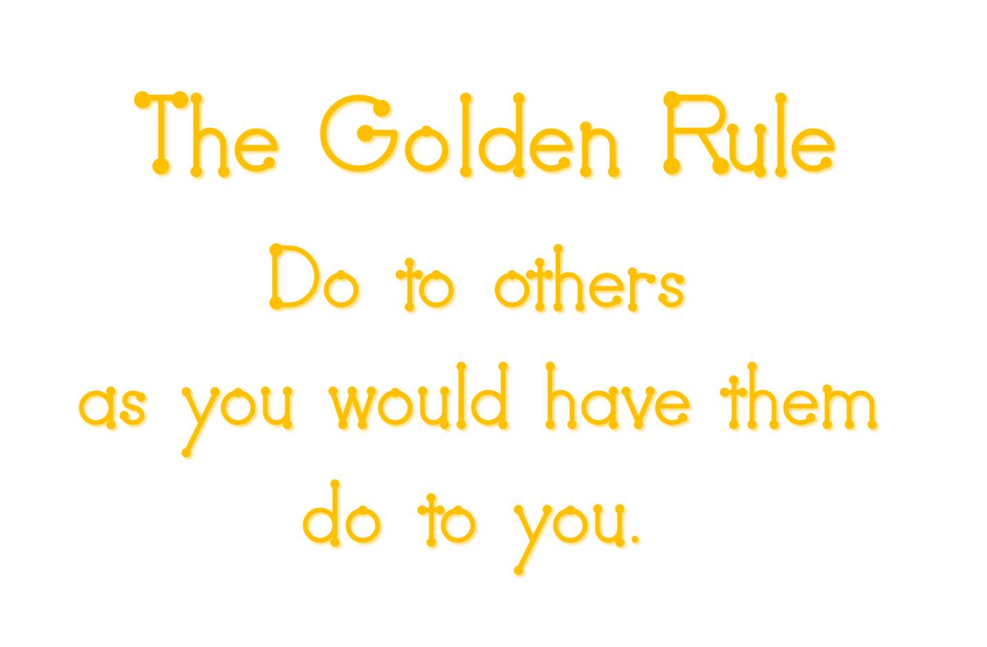 Golden rule word art freebie for Golden rule painting
