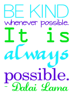 """Be Kind"" Word Art Freebie"