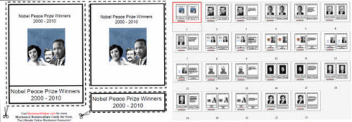Free Montessori Helper Nobel Peace Prize Winners