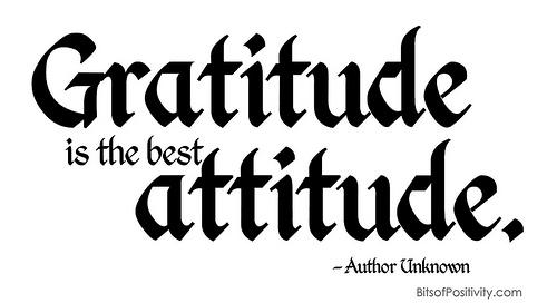 """Gratitude is the Best Attitude"" Word Art Freebie"