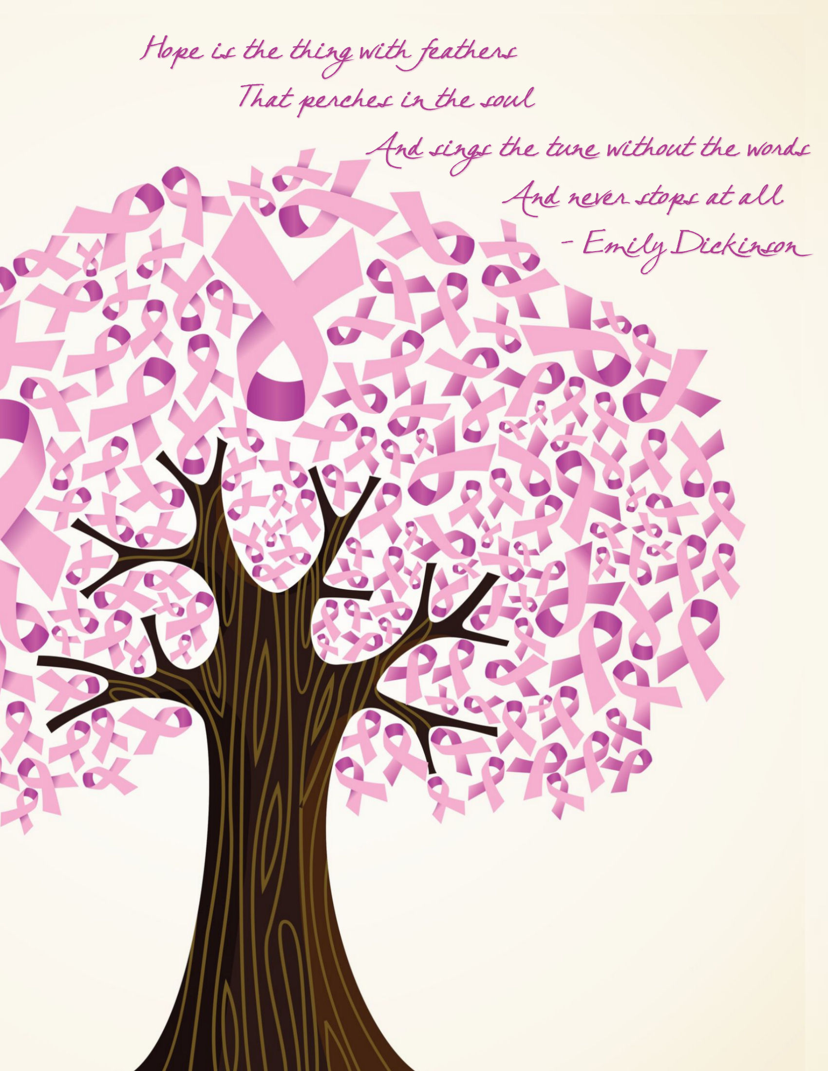 Breast Cancer Inspirational Quotes Hope Word Art Freebie And Go Pink Blog Hop