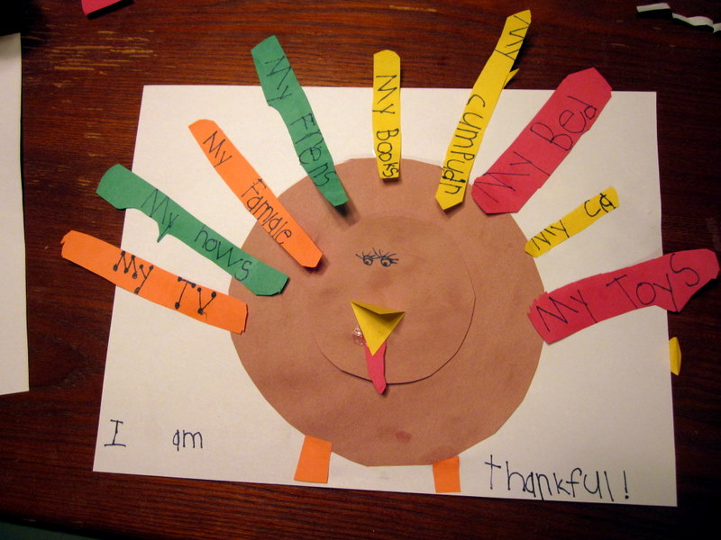 Thankful Turkey (Photo from The Educators' Spin On It)