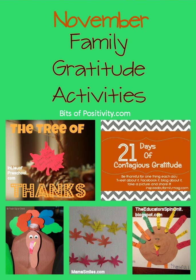 November Family Gratitude Activities