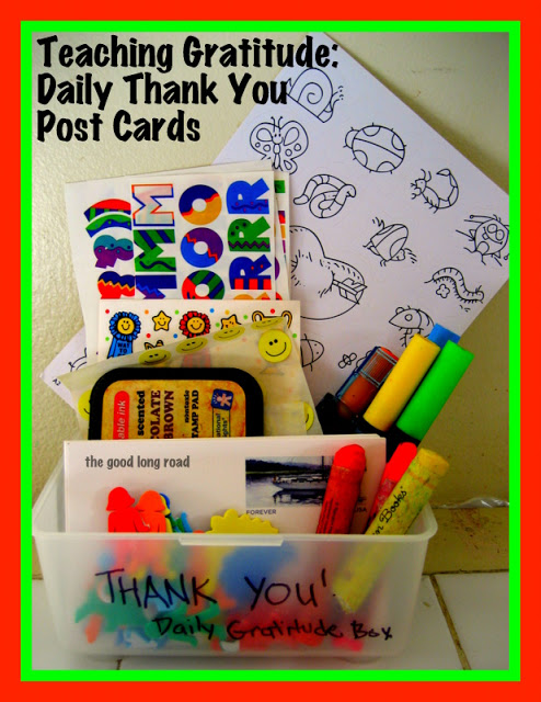 Daily Thank You Post Cards (Photo from The Good Long Road)