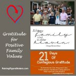 Gratitude for Positive Family Values