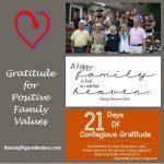 Gratitude for Positive Family Values