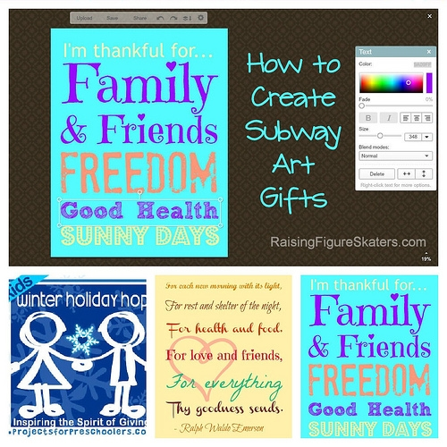How to Create Subway Art Gifts – Kids Winter Holiday Hop