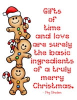 """The Basic Ingredients of a Truly Merry Christmas"" Word Art Freebie"