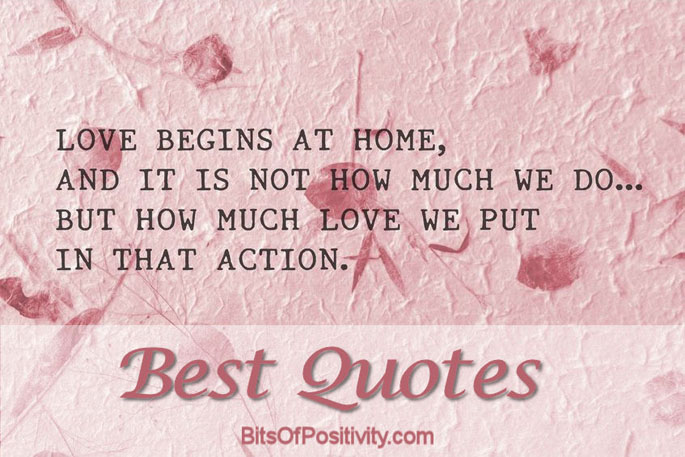 Best Quotes with Love Quote by Mother Teresa