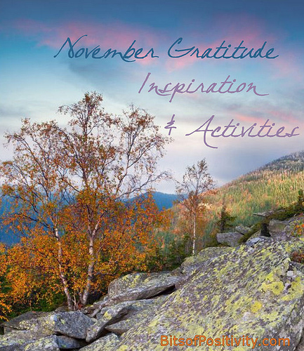 November Gratitude Inspiration and Activities