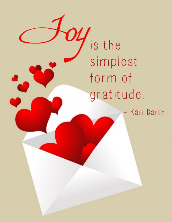 """Joy Is the Simplest Form of Gratitude"" Word Art Freebie"