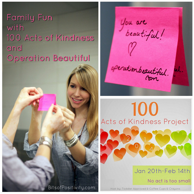 Family Fun with 100 Acts of Kindness and Operation Beautiful