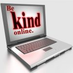 """Be Kind Online"" Word Art Freebies"