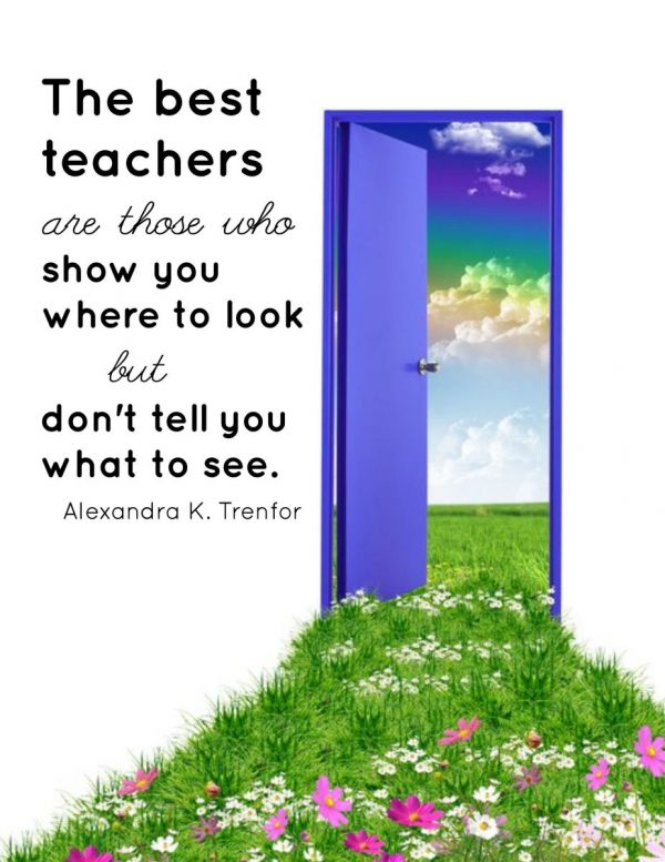 """The Best Teachers"" Word Art Freebie"