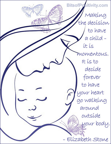"""""""The Decision to Have a Child"""" Word Art Freebie"""