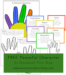 Free Peaceful Character Printables from Montessori Print Shop