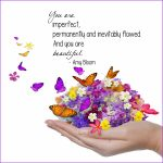 """""""Imperfect and Beautiful"""" Word Art Freebie"""