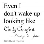 "Celebrity Photoshop + ""Looking Like Cindy Crawford"" Word Art Freebie"