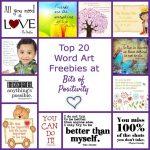 Top 20 Word Art Freebies at Bits of Positivity