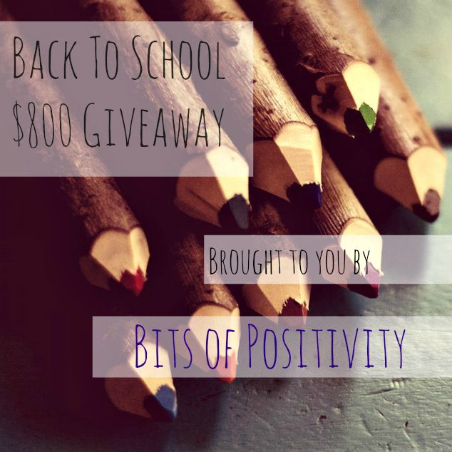 Back to School $800 Cash Giveaway