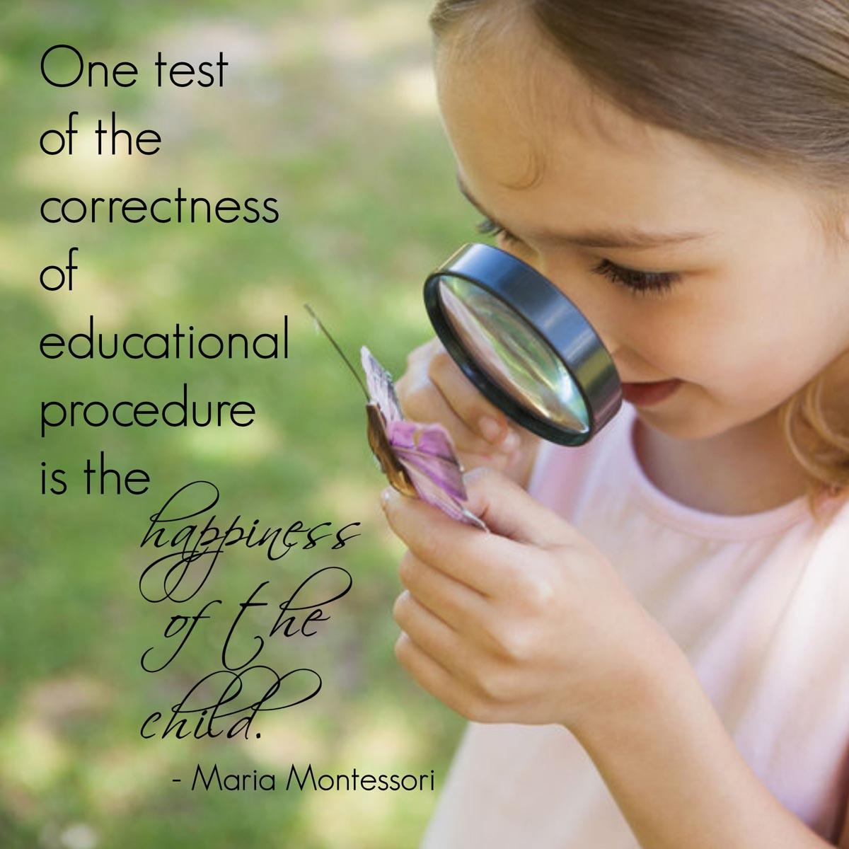 happiness of the child montessori word art freebie