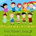 Free Manners Songs for Home or Classroom