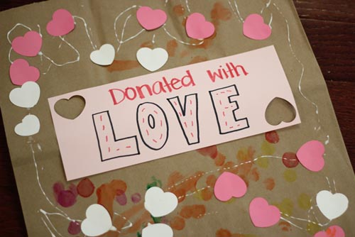 Donated with Love Bag (Photo from Toddler Approved)