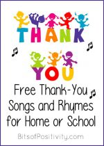 Free Thank-You Songs and Rhymes for Home or School