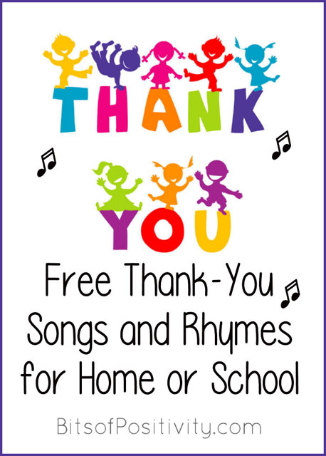 Free Thank-You Songs and Rhymes