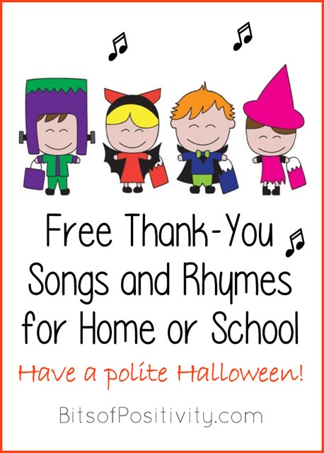 Free Thank-You Songs for Home or School_Have a polite Halloween