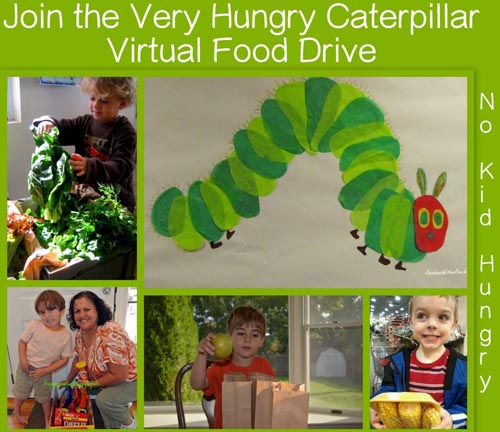 Very Hungry Caterpillar Virtual Food Drive (Photo from The Good Long Road)