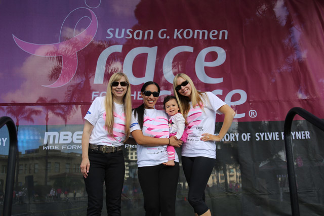 Fabulous Chitwood Ladies Team after the San Diego Susan G. Komen Race for the Cure in 2014