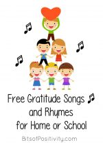 Free Gratitude Songs and Rhymes for Home or School
