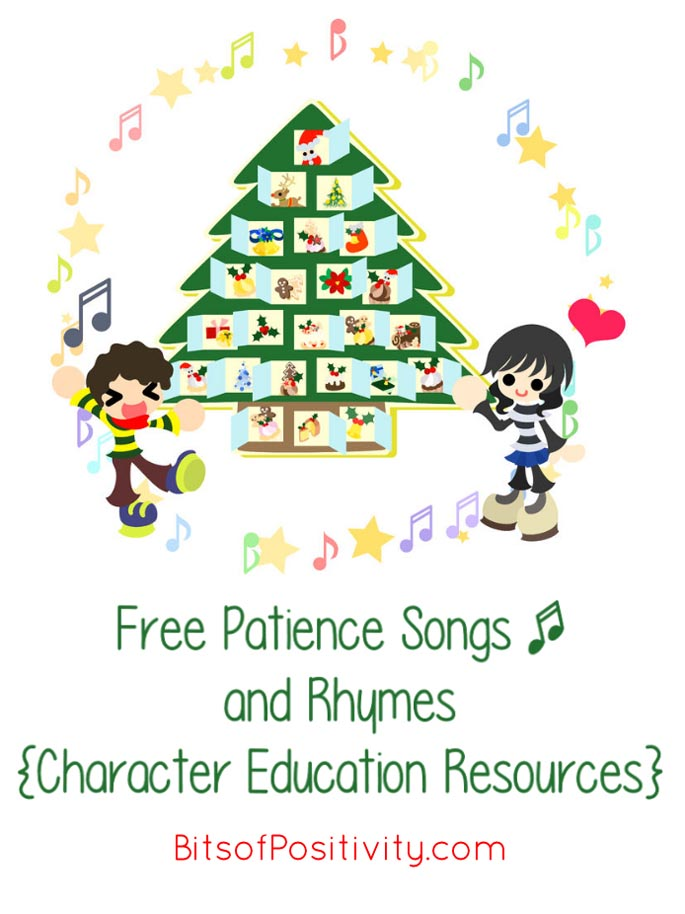 Free Patience Songs and Rhymes {Character Education Resources}