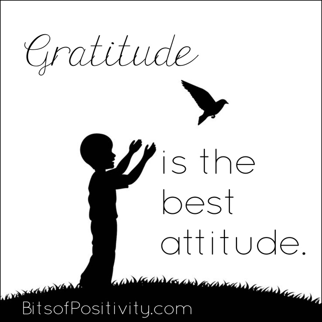 Gratitude is the Best Attitude Word Art Freebie