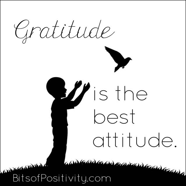 Gratitude is the Best Attitude Word Art Freebie