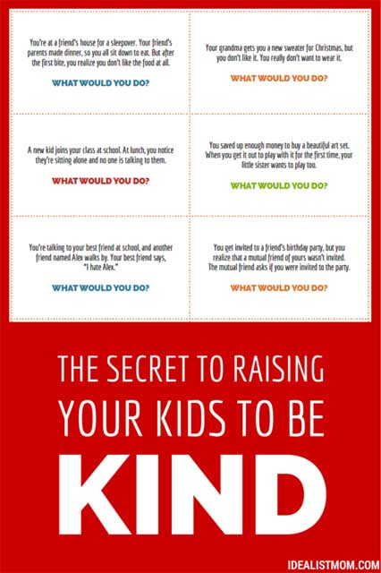 Kindness Conversation Starters from The (Reformed) Idealist Mom